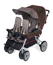 The LX4 4-Passenger / Dual Canopy Folding Stroller