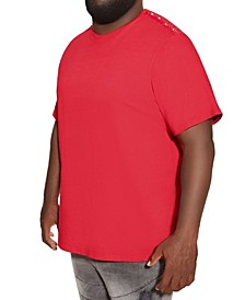 MVP Collections Big and Tall Studded Shoulder Tee
