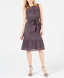 Anne Klein Cotton A-Line Dress