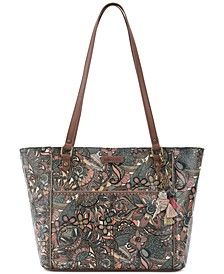Coated Canvas Tote