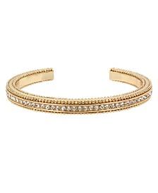BCBGeneration Gold Pave Textured Cuff Bracelet