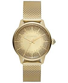 Women's Castilla Gold-Tone Stainless Steel Mesh Bracelet Watch 38mm