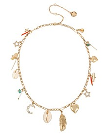 Shell Mixed Charm Frontal Necklace