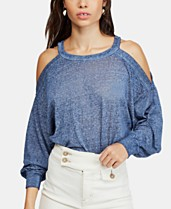 a090347a03436b Free People Chill Out Cold-Shoulder Top
