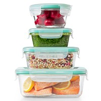 OXO Smart Seal 12-Pieces Glass Food Storage Container Set