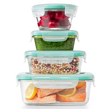 12-Pieces OXO Smart Seal Glass Food Storage Container Set