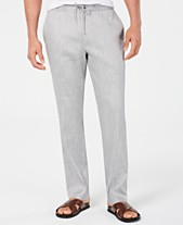 5bab6f1292 Alfani Men's Stretch Linen Blend Drawstring Pants, Created for Macy's