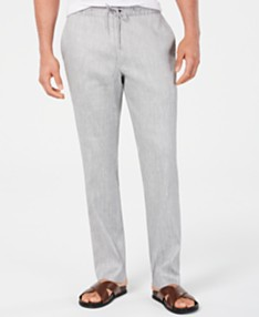 7a795da561cb Alfani Men's Stretch Linen Blend Drawstring Pants, Created for Macy's