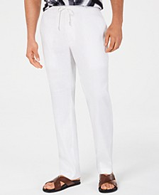 Men's Stretch Linen Blend Drawstring Pants, Created for Macy's