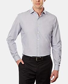 UNLISTED Men's Classic/Regular Fit Easy-Care Stripe Dress Shirt