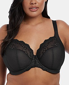 Full Figure Charley Stretch Lace Plunge Bra EL4382, Online Only