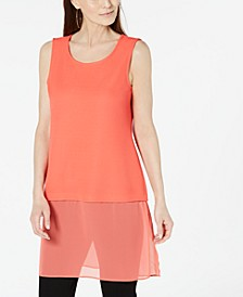 Petite Layered-Look Tunic, Created For Macy's