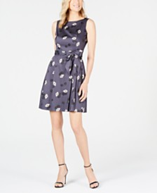Anne Klein Rose Rush A-Line Dress