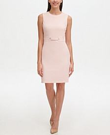 Petite Grommet-Trim Sheath Dress