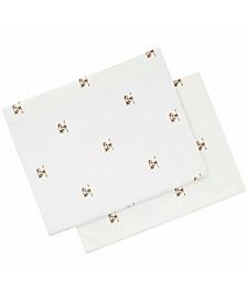 Printed Cotton Percale King Pillowcase Pair