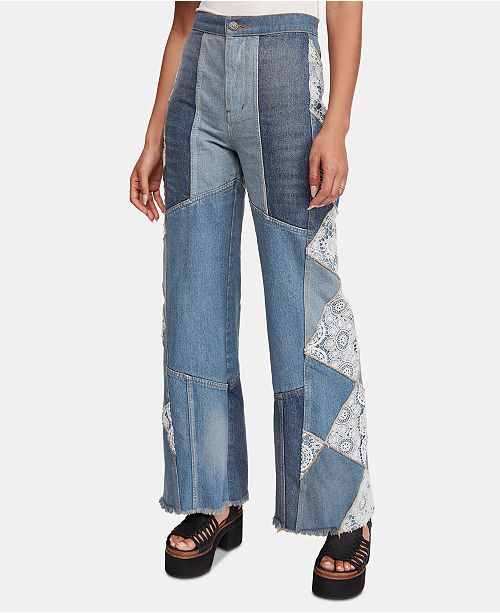 Free People In My Element Patchwork Jeans