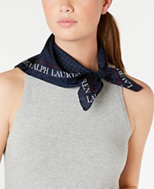 Lauren Ralph Lauren Hailey Dot Silk Square Scarf