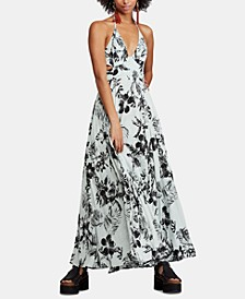 Lille Printed Tie-Back Maxi Dress