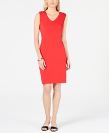 JM Collection Grommet-Shoulder Sheath Dress, Created for Macy's