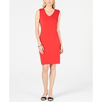 JM Collection Grommet-Shoulder Sheath Dress