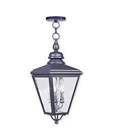Cambridge 3-Light Outdoor Chain-Hang Lantern