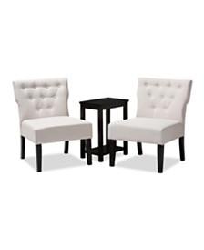Lerato 3Pc Chair Set, Quick Ship