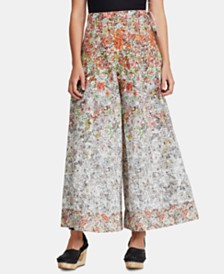 Free People Sugar Magnolia Cotton Floral-Print Wide-Leg Pants