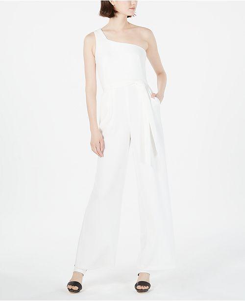 Calvin Klein One-Shoulder Jumpsuit