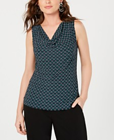 Nine West Sleeveless Cowl-Neck Top