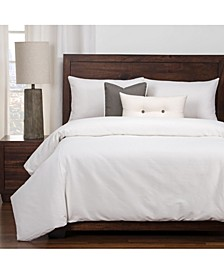 Everlast White Stain Resistant 6 Piece Cal King High End Duvet Set