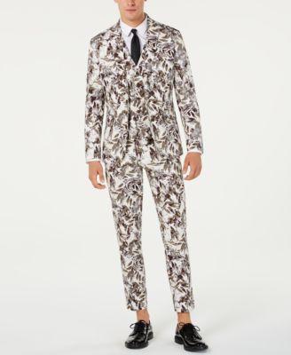 INC Men's Slim-Fit Botanical Blazer, Created for Macy's