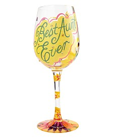 Enesco Lolita Best Aunt Ever Wine Glass