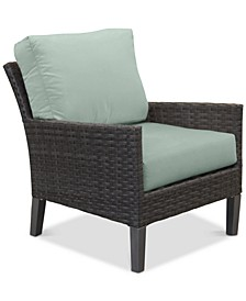 Amari Pepper Outdoor Club Chair with Sunbrella® Cushions