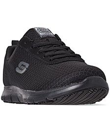 Women's Work Relaxed Fit: Ghenter - Bronaugh Slip Resistant Wide Width Athletic Work Sneakers from Finish Line
