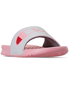 Champion Women's Super Slide Split Script Slide Sandals from Finish Line
