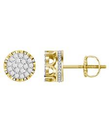 Men's Diamond (1 ct.t.w.) Earring Set in 10k Yellow Gold