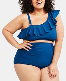 Motherhood Maternity Plus Size Printed Bikini Swimsuit