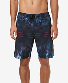 "Men's Superfreak Printed Hallucination 19"" Swim Trunks"