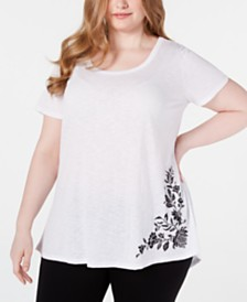 Seven7 Jeans Trendy Plus Size Ruched-Back Top