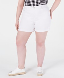 Seven7 Jeans Trendy Plus Size High-Rise Denim Shorts