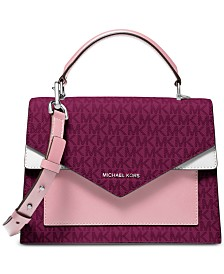 MICHAEL Michael Kors Ludlow Signature Colorblocked Satchel