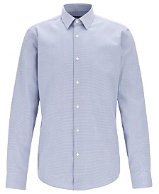 BOSS Men's Eliott Regular-Fit Cotton Shirt