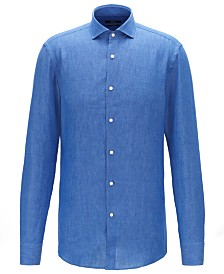 BOSS Men's Jason Slim-Fit Linen Shirt