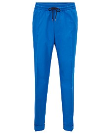 BOSS Men's Oliwer Relaxed-Fit Cropped Cotton Trousers
