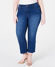Trendy Plus Size Cropped Bootcut Jeans