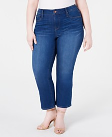 Seven7 Jeans Trendy Plus Size Cropped Bootcut Jeans