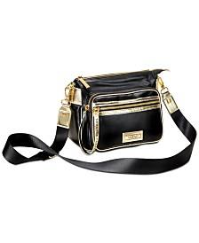 Receive a complimentary black and gold bag with any large spray purchase from the Versace Women's Fragrance Collection
