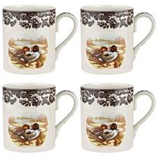 Woodland Pintail Mug Set/4