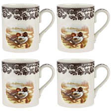 Spode Woodland Pintail Mug Set/4