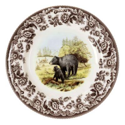 Woodland Black Bear Salad Plate